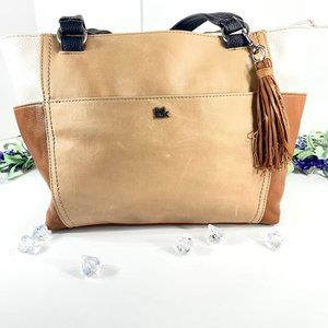 The Sak Ashby Vintage Leather Style Tote Purse